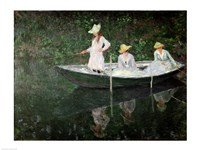 The Boat at Giverny, c.1887 Fine-Art Print
