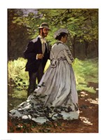 The Promenaders, or Bazille and Camille, 1865 Fine-Art Print