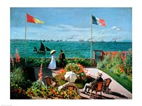 The Terrace at Sainte-Adresse, 1867 Fine-Art Print