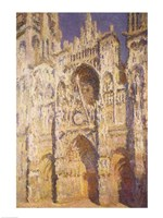 Rouen Cathedral in Full Sunlight: Harmony in Blue and Gold, 1894 Fine-Art Print