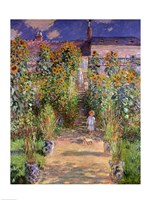The Artist's Garden at Vetheuil, 1880 Fine-Art Print