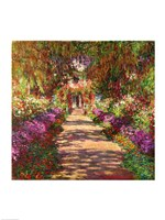 A Pathway in Monet's Garden, Giverny, 1902 Fine-Art Print