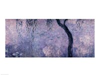 Waterlilies: Two Weeping Willows, right section, 1914-18 Fine-Art Print