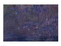 Waterlilies: Reflections of Trees, detail from the right hand side, 1915-26 Fine-Art Print