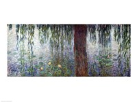 Waterlilies: Morning with Weeping Willows, detail of the left section, 1915-26 Fine-Art Print