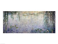 Waterlilies: Morning with Weeping Willows, detail of the central section, 1915-26 Fine-Art Print