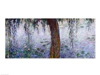 Waterlilies: Morning with Weeping Willows, detail of the right section, 1915-26 Fine-Art Print