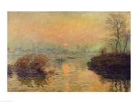 Sun Setting over the Seine at Lavacourt. Winter Effect, 1880 Fine-Art Print