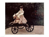 Jean Monet on his Hobby Horse, 1872 Fine-Art Print