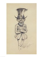 Groom in a top hat, 1857 Fine-Art Print