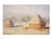 Haystacks, Morning Effect Fine-Art Print