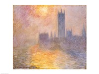 The Houses of Parliament, Sunset, 1904 Fine-Art Print