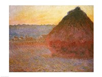 Haystacks, Pink and Blue Impressions, 1891 Fine-Art Print