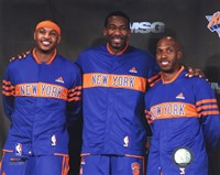 Amar'e Stoudemire, Chauncey Billups, & Carmelo Anthony  2010-11 Press conference Fine-Art Print