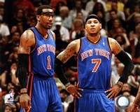 Carmelo Anthony & Amar'e Stoudemire 2010-11 Action Fine-Art Print