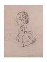 Young girl in profile with a sharp nose Fine-Art Print