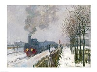 Train in the Snow or The Locomotive, 1875 Fine-Art Print
