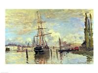 The Seine at Rouen, 1872 Fine-Art Print