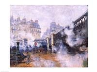The Pont de l'Europe, Gare Saint-Lazare, 1877 Fine-Art Print