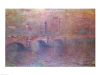The Thames at Waterloo Bridge, 1903 Fine-Art Print