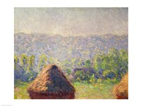 The Haystacks or, The End of the Summer, at Giverny, 1891 Fine-Art Print