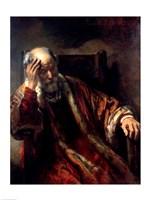 An Old Man in an Armchair Fine-Art Print