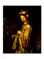 Saskia as Flora, 1634 Fine-Art Print
