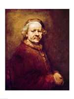 Self Portrait in at the Age of 63, 1669 Fine-Art Print
