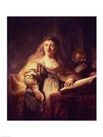Saskia as Minerva Fine-Art Print