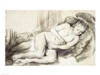 Reclining Female Nude Fine-Art Print