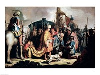David Offering the Head of Goliath to King Saul Fine-Art Print