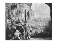 St. Peter and St. John at the Entrance to the Temple, 1649 Fine-Art Print