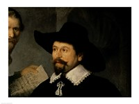 The Anatomy Lesson of Dr. Nicolaes Tulp, 1632 (man in hat detail) Fine-Art Print