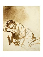 A Young Woman Sleeping Fine-Art Print