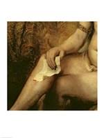 Bathsheba Bathing, 1654 (lower detail) Fine-Art Print