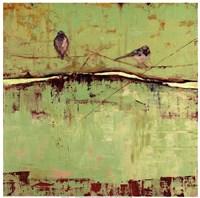 Birds on Horizon in Green Fine-Art Print