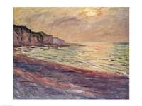 The Beach at Pourville, Setting Sun Fine-Art Print