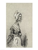 Old Woman from Normandy in Profile, 1857 Fine-Art Print