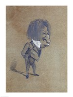 Caricature of Jules Husson 'Champfleury' Fine-Art Print