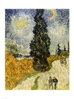 Road with Cypresses, 1890 Fine-Art Print