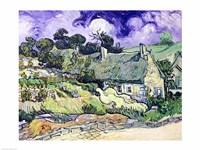 Thatched cottages at Cordeville Fine-Art Print