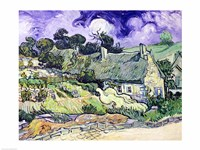 Thatched cottages at Cordeville Fine-Art Print