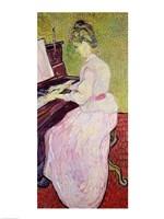 Marguerite Gachet at the Piano, 1890 Fine-Art Print