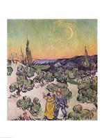 Moonlit Landscape, 1889 Fine-Art Print
