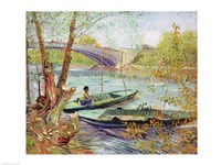 Fishing in the Spring. Pont de Clichy, 1887 Fine-Art Print
