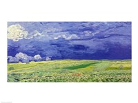 Wheatfields under Thunderclouds, 1890 Fine-Art Print