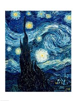 The Starry Night, June 1889 Detail A Fine-Art Print