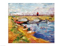 The Gleize Bridge over the Vigneyret Canal Fine-Art Print