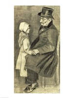 Seated Man with his Daughter, 1882 Fine-Art Print