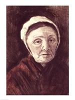 Head of an old woman in a Scheveninger Cap Fine-Art Print
